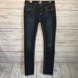 Rerock For Express Skinny Dark Wash Jeans 6L